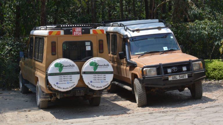 Safaribiler i Queen Elizabeth National Park, Uganda.