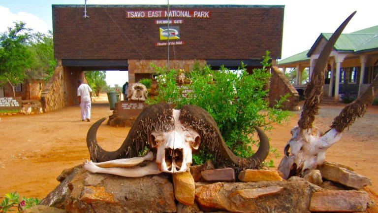 Tsavo East gate.
