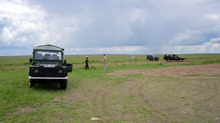 Governors Camp airstrip.