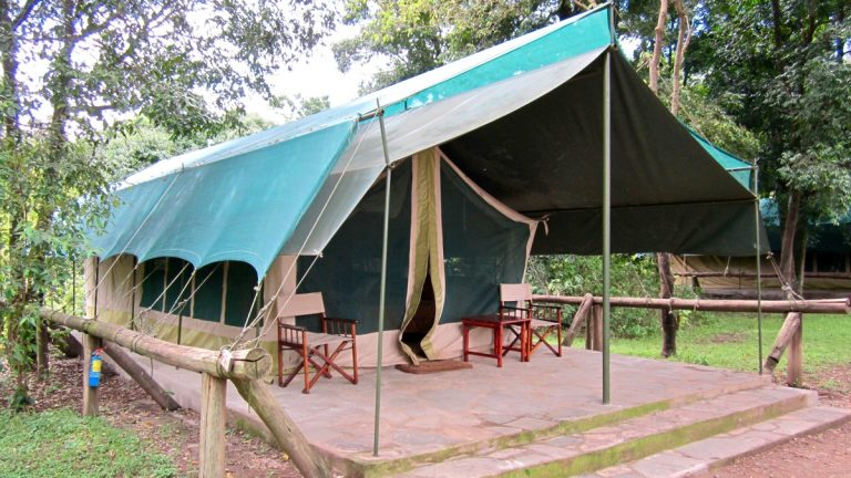 Safaritelt i Governors Camp, Masai Mara, Kenya.