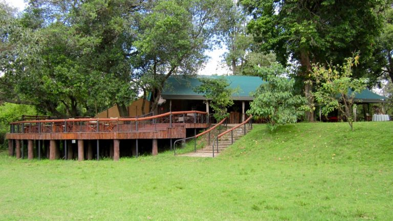 Restaurantomeråde i Governors Camp, Masai Mara, Kenya.