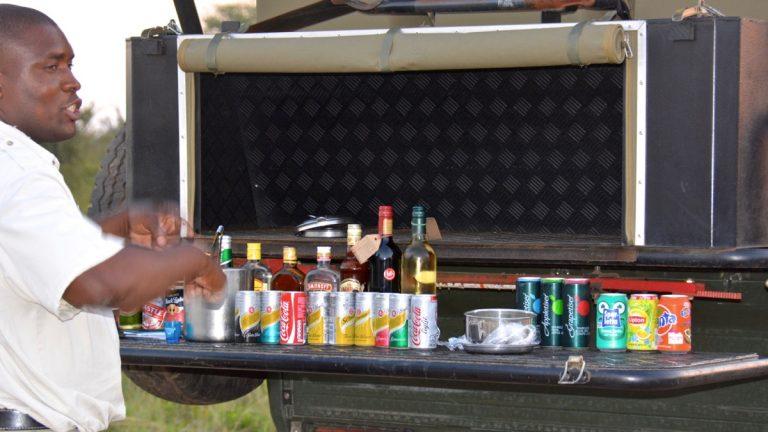 Sundownerl i Manyeleti, Sydafrika.